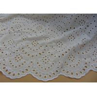 Best Chemical Vintage Eyelet 100% Cotton Lace Fabric For Lady Shirt And Suit Anti Static wholesale