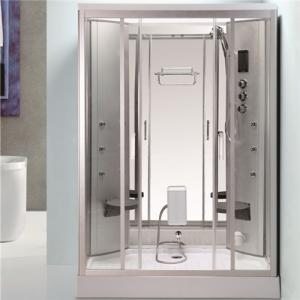 Best Back Massage Jets Jacuzzi Shower Enclosures , Shower Steam Room Combo With Fold Up Seat wholesale