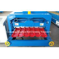 5.5KW Glazed Tile Roll Forming Machine , Roof Panel Forming Machine 0.3-0.8mm Thickness