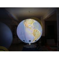 Cheap 0.18mm PVC Inflatable Helium Balloons Attractive globe For Science Exhibition with colorful LED light for sale