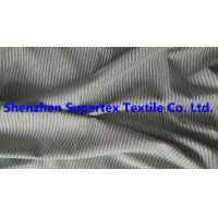 Best 147CM Yarn Dyed Cotton Twill Fabric Black / White Stripes Peach For Men'S Garment Blouses wholesale