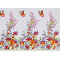 Best Beautiful Floral Multi Colored Embroidered Tulle Lace Fabric For Bridal Gown Dress wholesale