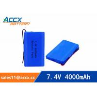 Best 7.4v lithium polymer battery 4000mAh for medical device, digital product, electric products  with pcm protection wholesale