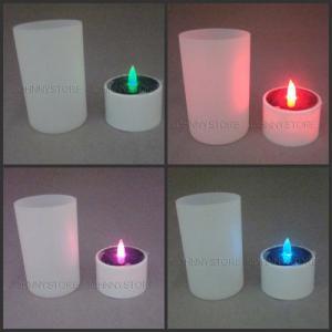 Best New Design Romantic Solar Candle Light Glass Cup wholesale