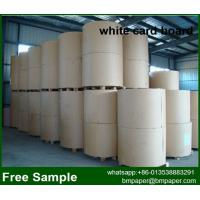 China Single White Clay Coated Duplex Paper Card Board with News Back on sale