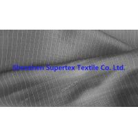 Best DTY Twill Jacquard Polyester Fabric Two Tone Pin Stripes For Workwear Uniforms wholesale