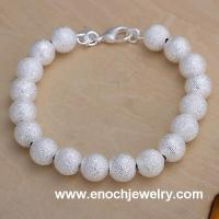 Best Fashion Jewelry White Silver Bead Bracelet wholesale
