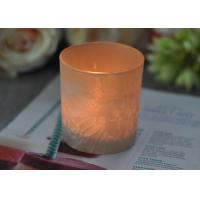 Cheap Gifts Tealight Glass Candle Holder Orange Romantic Heat Resisting for sale