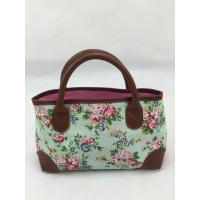 Best Small Lady Washable Grocery Reusable Tote Shopping Bags With Flowers Printed wholesale