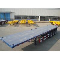 Best Carbon Steel Flatbed Semi Trailer 40000kg With Dual Line Braking System wholesale