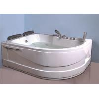 Cheap Aganist Wall Free Standing Jetted Soaking Tub , American Standard Whirlpool Tub for sale