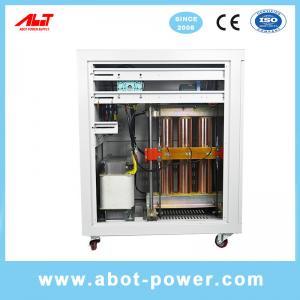 Best ABOT Large Capacity Three Phase Servo Motor Controlled Voltage Stabilizer Regulator SBW wholesale