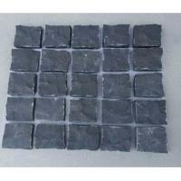 China Garden Landscaping Paving Stone Polished Dark Grey Granite Driveway for sale