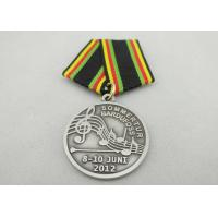Best Promotional Gift Brass / Copper / Zinc Alloy Custom Awards Medals with Special Ribbon, Die Stamping wholesale