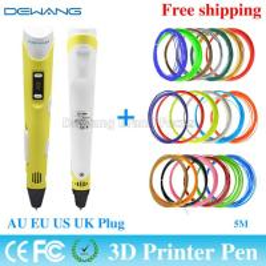 Best Yellow handheld 3d printer pen with 0.4mm - 0.7 mm Nozzle Diameter wholesale