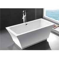 Best Fashionable Indoor Small Freestanding Bathtub , Oval Soaking Tub For 1 Person wholesale