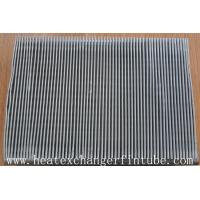 Best Continous Piece Single Row Flat Fin Tube , Fin Per 1 Meter 250 Or 333 wholesale