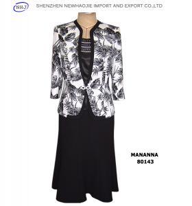 China Ladies elegant prints 3 piece suit on sale