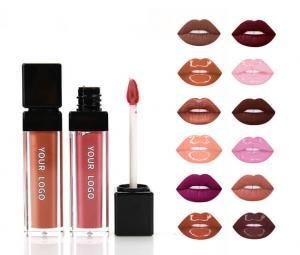 Best 12 Colors Matte Glitter Lip Gloss Set , 8ml Waterproof Lip Gloss wholesale