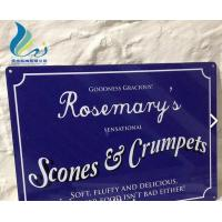 Best Screen Alphabet Printed Antique French Enamel Signs Silk Screen Printing wholesale