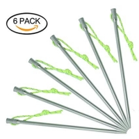 Buy cheap 5mm Titanium Alloy Tent Pegs With Reflective Cord from wholesalers