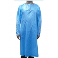 Best Isolation gown for outside protection disposable CPE plastic apron used in clinic in hospital, liquid proof wholesale