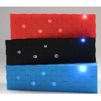 Cheap Portable Cube Bluetooth Speaker with Flashing Led Lights Red / Blue / Black outdoor speaker for sale