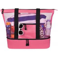 Best Wine Camping Collapsible Polyester Insulated Cooler Tote Bags Top Zipper Closure Design wholesale