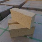 Best Customized Size Heat Resistant Bricks , High Alumina Fire Bricks Natural Yellow Color wholesale