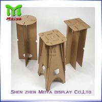 Best Full Color Printing Recycled Cardboard Furniture , Foldable cardboard chair wholesale