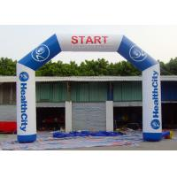 China Commercial Inflatable Start Finish Line Hire 0.55 Mm PVC Tarpaulin Material on sale