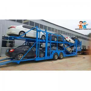 China Two Loading Floors SUV Q235 60FT Semi Truck Car Hauler on sale