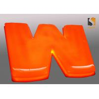Best Orange Outdoor Vacuum Formed Lighted Channel Letters With Dome Shape Face / Prismatic Face wholesale