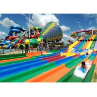 Best Race Side By Side Water Slide Multi Lane Fiberglass Customized Facility wholesale