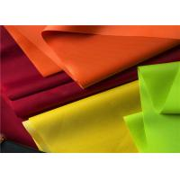 China Yellow Polyester Pvc Coated Fabric For Bags / Polyurethane Polyester Fabric on sale