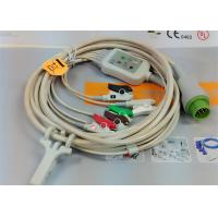 Best 5 Leads Snap AHA ECG Patient Cable , Mindray 12 Pin One Piece ECG Cable wholesale