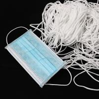 Best Round White 2.5mm 3mm Face Mask Materials Elastic Cord Ear Loops In Stock wholesale