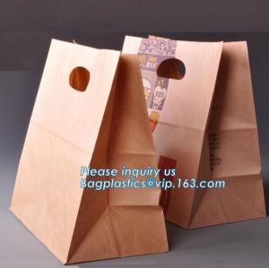 Best 60gsm Oil-Proof Food Kraft Paper Packaging Bread Bag,food brown kraft paper bag sandwich bag bread bag, BAGPLASTICS, PAC wholesale