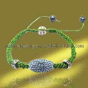 Best Fashion Hand-Woven Olivary Crystal Shamballa Bracelets (BSL3084-18cm) wholesale