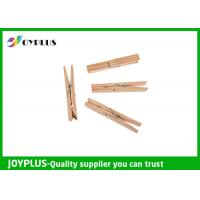 Best Safety Household Plastic Clothes Pegs Wooden Clips For Clothes OEM / ODM Available wholesale