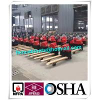 China Manual jack hand hydraulic pallet truck trolley , Drum storage cabinet used jacking trolley on sale