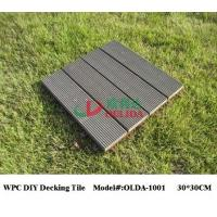Best Square Snap Together Patio Tiles , Composite Patio / Balcony / Pool Eco Decking Tiles wholesale