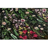 Best Stretch Multi Colored Floral Heavy Beaded Lace Fabric For Wedding Dress Decoration wholesale