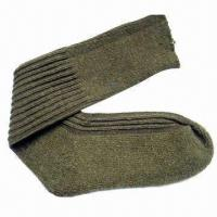 Best Acrylic wool military socks with terry on sole wholesale
