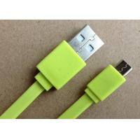 Best Mobile Data Transfer SAMSUNG USB Charger Cable , Micro Usb Data Cable Green wholesale
