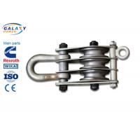 Best Alternative Steel Wire Rope Pulley Block , Stringing Iron Rope Pulley Block wholesale