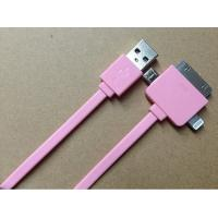 Best TPE Colorful 1M 3 in 1 Micro USB Charger Cable For IPhone / Samsung / Blackberry wholesale