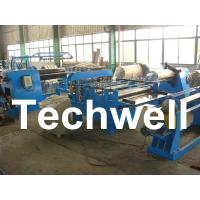 Best Simple Steel / Metal Slitting Machine For Slitting 0.2 - 1.8 * 1300 Coil Into 10 Strips wholesale