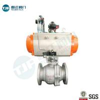 China DIN 3357 WCB Industrial Ball Valve With Single Acting Penumatic Actuator on sale
