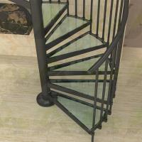 Cheap Indoor / Outdoor Powder Coated Black Metal Spiral Staircase Price / prefab Stairs for sale